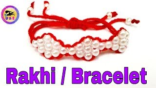 Prarl rakhi making/beads rakhi making/Designer Rakhi/easy beads rakhi/rakhi making/how to make rakhi