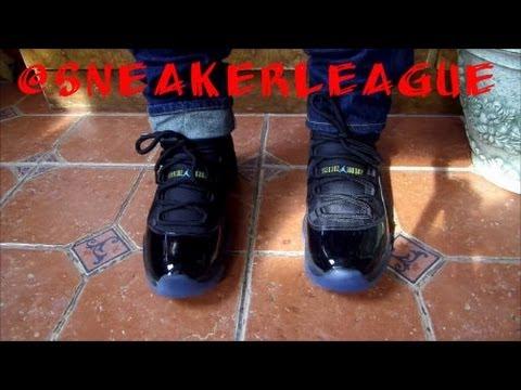 ae6c6af00a6441 ... best price nike air jordan 11 gamma blue on feet and detail youtube  3de08 92c4f