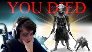 First Time Dark Souls Player Vs. Capra Demon