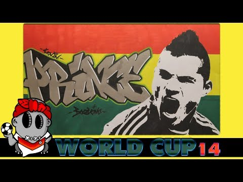 World Cup 2014 Graffiti - Kevin Prince Boateng (Ghana)
