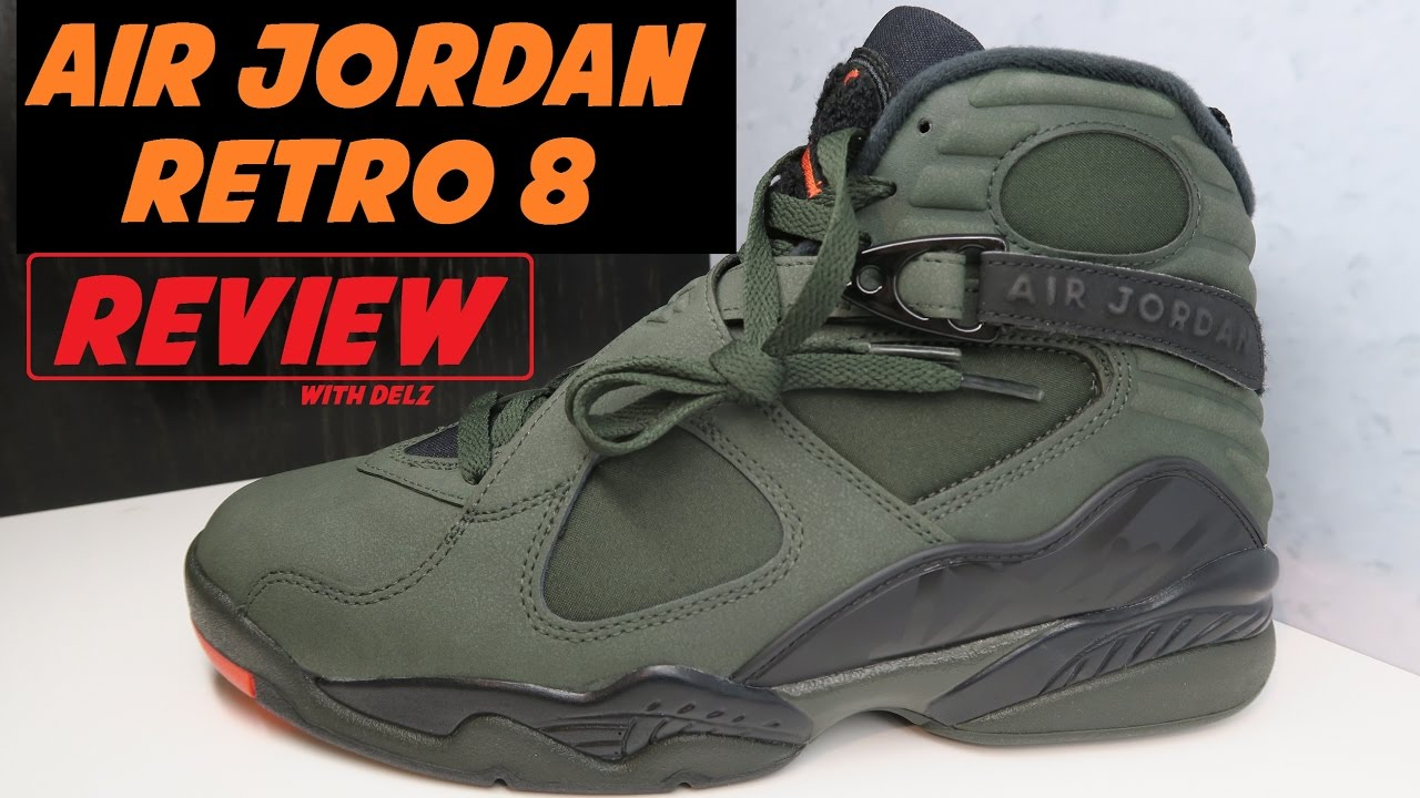 free shipping 8f323 b60de AIR JORDAN 8 TAKE FLIGHT SEQUOIA UNDEFEATED RETRO SNEAKER DETAILED REVIEW