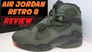 AIR JORDAN 8 TAKE FLIGHT SEQUOIA UNDEFEATED RETRO SNEAKER DETAILED REVIEW