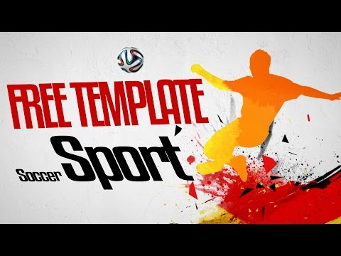 free soccer sport intro after effects template tutorial youtube