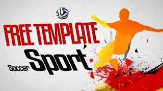 Free Soccer Sport Intro After Effects template + tutorial