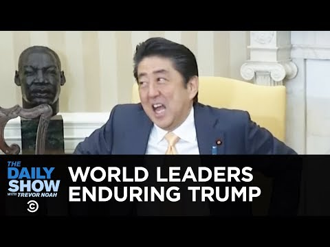 World Leaders Enduring Trump | The Daily Show
