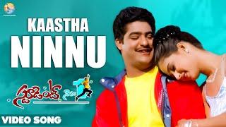 Kaastha Nannu Video Song | Student No.1 | Jr NTR | MM Keeravaani | SS Rajamouli | Vyjayanthi Movies