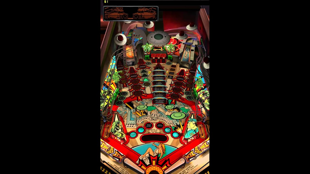 Attack From Mars - Pinball Arcade (Portrait Mode) - YouTube