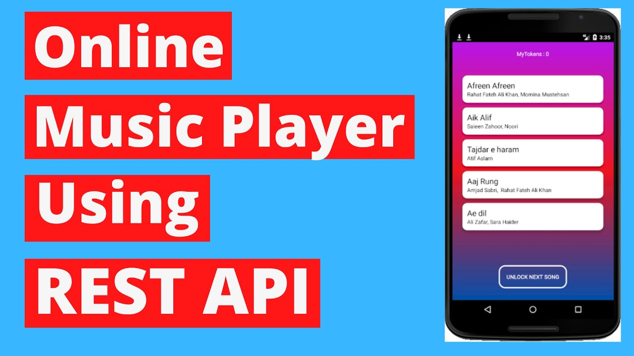 Online Music Player Using Rest Api Firebase Android Studio 12 Youtube