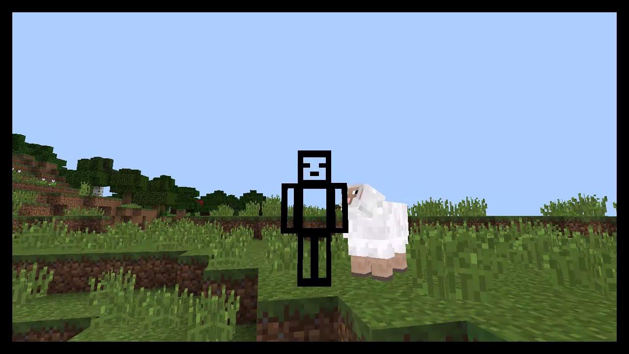 Minecraft pe Invisible Skin or Transparent Skin Kinda  MCPE ( Pocket  Edition )