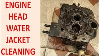How Engine Cylinder Head Water Jacket Cleaning l Engine Block Prep & Cleaning in Hindi