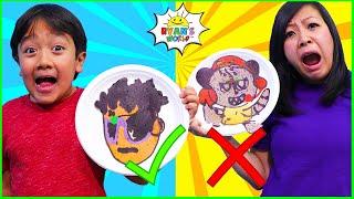 Pancake Art Challenge Ryan vs Mommy! Learn to Make Ryan's World DIY Pancake Art 1 hr kids video!!