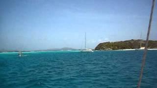 sy Mama-cocha voor anker bij de Grenadines,