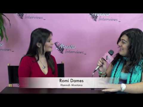 Romi Dames- Hannah Montana Interview
