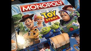 Toy Story Monopoly Unboxing & Closer Look (Toy Story 1-4 - Play as Woody, Bo Peep, Jessie & More)