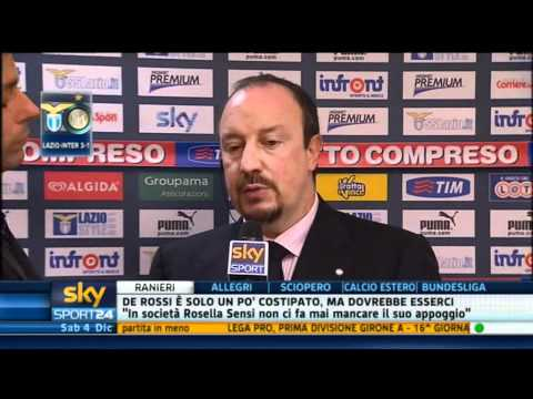 Sky lazio inter intervista a rafa youtube for Intervista benitez