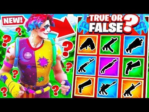 TRUE or FALSE TRIVIA for Guns *NEW* Fortnite Creative Mode