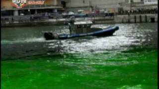 WGN Radio - CityCam - The Chicago River Turns Green