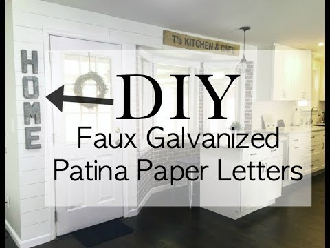 DIY Galvanized Patina Letters