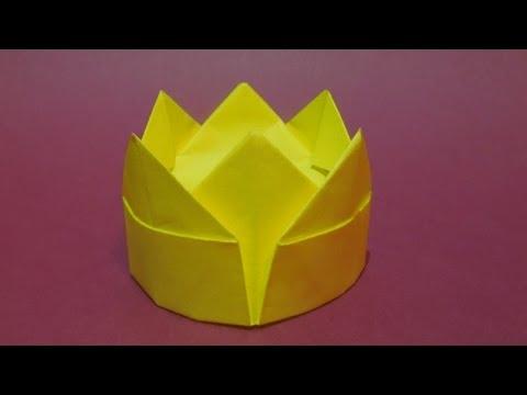 Как сделать корону из бумаги. Оригами корона из бумаги.