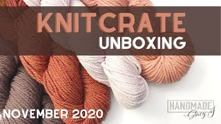 KNITCRATE Unboxing for November 2020 ❤️🧶