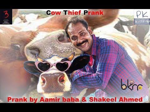 Funny Prank | Cow Thief Prank | by Aamir Baba & Shakeel Ahmed | Bach Ke Rehna Re