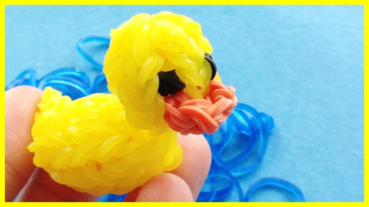 Rainbow Loom Charms 3d Rubber Ducky How To Make With