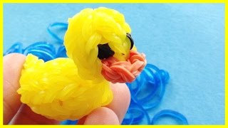 Rainbow Loom Charms: 3D Rubber Ducky : How to make with loom bands