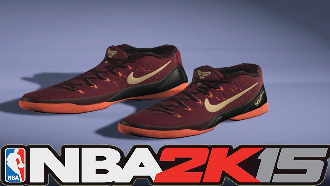 dbb4f768f8fc NBA2K15 Next Gen Shoes - Nike Kobe 9 EM Deep Garnet - YouTube