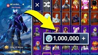 * RECORDE mundial * compra 1 milhão V BUCKS em FORTNITE para caridade ao vivo! | Battle Royale do Fortnite