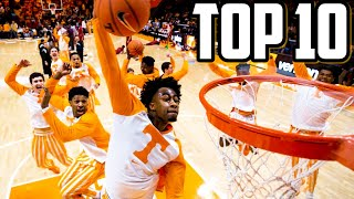TOP 10 TENNESSEE WARM UP DUNKS!!!