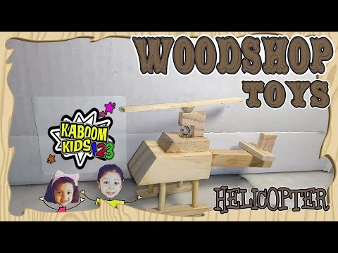 How to Make Wooden Helicopter Toy for Kids.