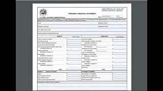 Personal Financial Statement | SBA Form 413 | Bonus Accounting