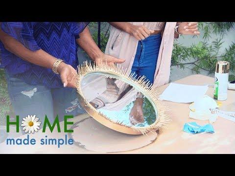 Make Your Own Sunburst Glamour Mirror | Home Made Simple | Oprah Winfrey Network