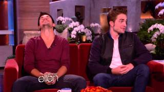 Robert Pattinson and Taylor Lautner guests on the Ellen Show! I DO ...
