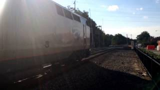 Amtrak Carolinian Train 79 Arriving and Departing Durham, NC With A Hybrid K5L