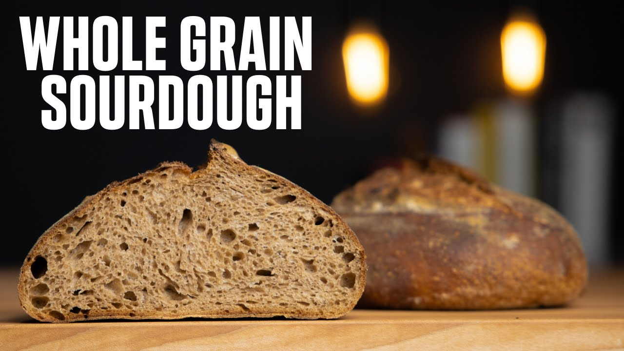 HOW TO MAKE 100% WHOLE WHEAT SOURDOUGH BREAD