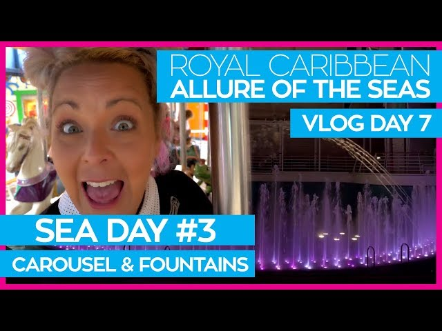 Allure of the Seas | Dazzles Rockaraoke & Fountain Show | Royal Caribbean Cruise Line Vlog Day 07