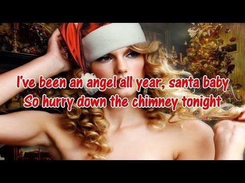 "Taylor Swift - ""Santa Baby"" Karaoke/Instrumental with Lyrics"