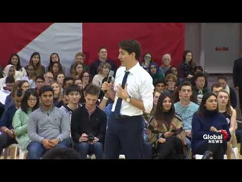 Justin Trudeau confronted by protester angry over Omar Khadr payout