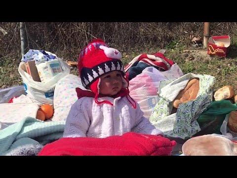 Video | Deniz yoluyla geçişler yasaklandı; Avrupa sınırında bekleyen göçmenler endişeli