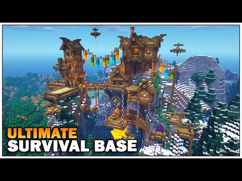 Minecraft Timelapse - The Ultimate Survival Mountain Base!!! [World Download]
