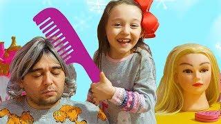 Öykü Pretend play with Hair and Makeup Toys - Fun Kids Video