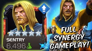 5 Star Sentry Rank Up & Full Synergy Gameplay 2019! - Marvel Contest Of Champions