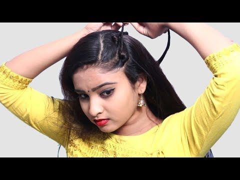 Beautiful Self Hairstyle 2019 for girls || Quick Hairstyles for party/wedding || Self Hairstyle 2019 thumbnail