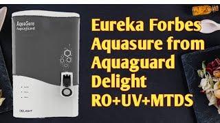 Eureka Forbes Aquasure | from Aquaguard Delight RO+UV+MTDS | Best Price is Amazon
