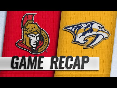 Predators score three unanswered in 3-1 win over Sens