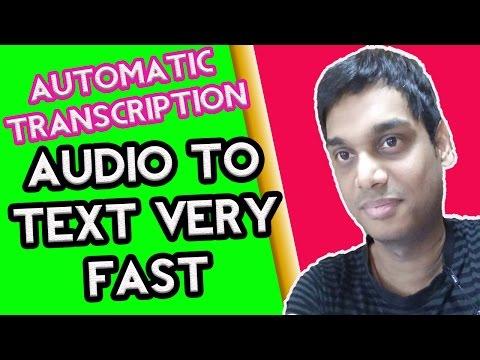 Transcribe audio to text automatically | Transcription easy to do | Hindi