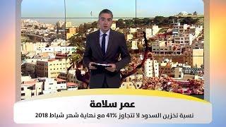 عمر سلامة - نسبة تخزين السدود لا تتجاوز 41% مع نهاية شهر شباط 2018