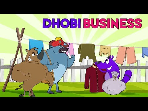 Pyaar Mohabbat Happy Lucky - Ep. 101 | Dhobi Business | Funny Hindi Cartoon Show