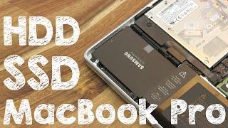 SSD in MacBook Pro einbauen - Festplatte selbst gegen neue HDD austauschen, Anleitung Deutsch